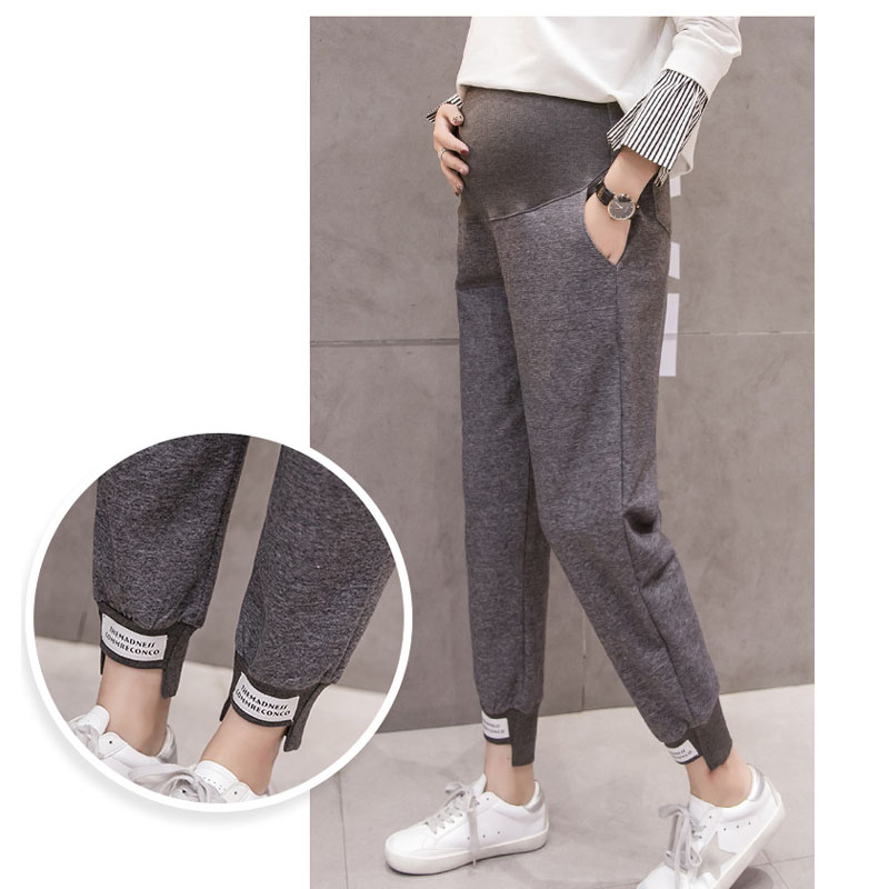 Casual Sports Maternity Pants For Pregnant Women Clothes Knitted Hallen Pants Pregnancy Spring Loose Gravidas Maternity Clothing