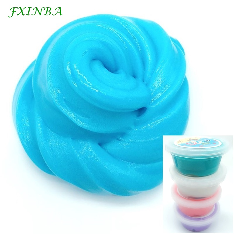 FXINBA 60ml box Slime Fluffy Toys Putty Light Soft Polymer Clay Lizun Slime Supplies DIY Fimo Fruit Slices Plasticine Antistress in Modeling Clay from Toys Hobbies