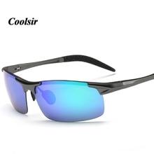Coolsir  2017  High Quality Men's UV400 Explosion-proof Colorful Polarizing Sunglasses Driving Aluminum Magnesium Sunglasses8177