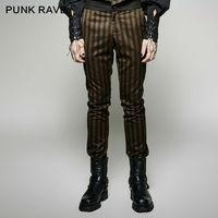 Steampunk Fashion Personality Punk Rave Vintage Men Pants K271 S 4XL