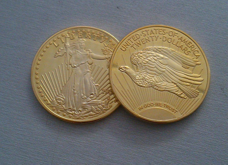 US Metal Coin Gold Plated Liberty Gold Coin Metal Crafts Festival Gifts