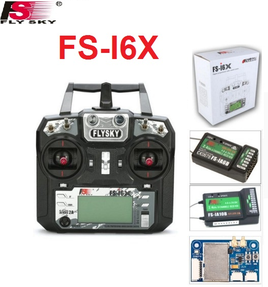 Flysky FS-i6X 10CH 2.4GHz AFHDS 2A RC Transmitter With FS-iA6B FS-iA10B FS-X6B FS-IA6B Receiver For Rc Airplane Drone Quadecopte aeromodelling usb analog cable fms simulator for flysky sm100 drone 2 4g rc