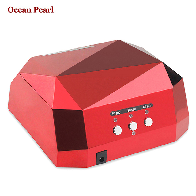 36W UV Lamp Nail Dryer LED Nails Lamp Diamond Shaped CCFL Curing for UV Gel Nail Polish Nail Art-1006B