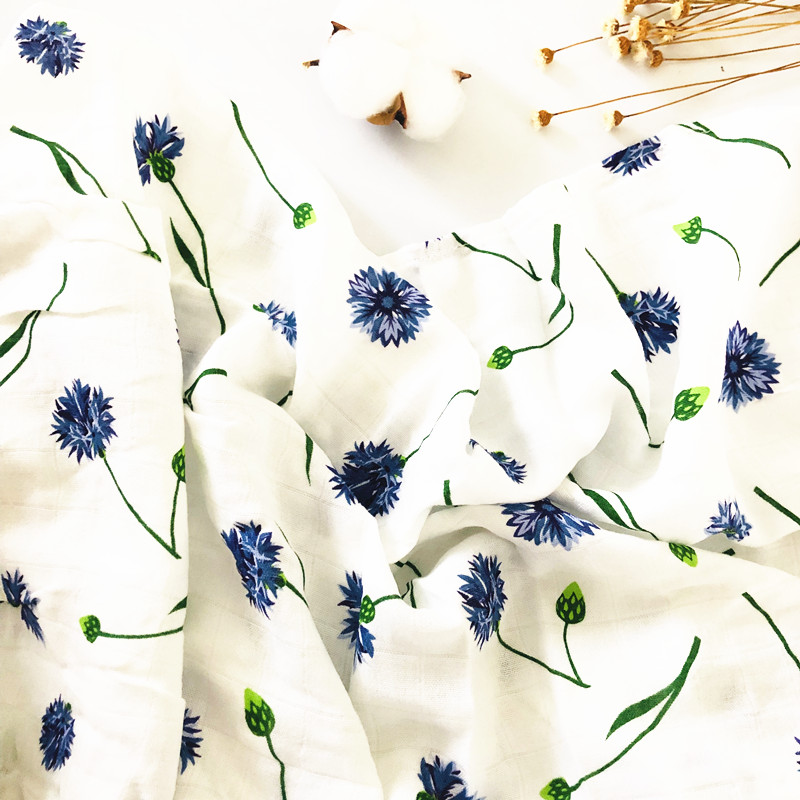 70% бамбуковое детское муслиновое одеяло для пеленания, качество лучше, чем Aden Anais, детское Многофункциональное большое одеяло для пеленок, детское одеяло - Цвет: ZM purple flower