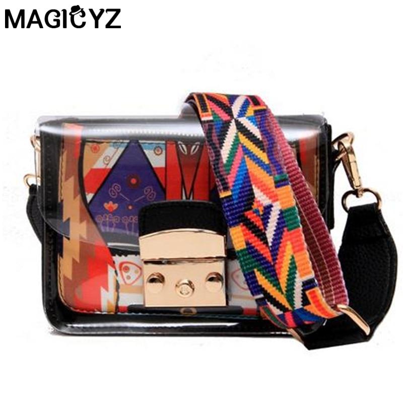 Fashion Colorful Strap Beach bag designer Ladies prints Handbags women Shoulder Messenger Bags Female New Composite clutch bag