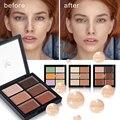 HUAMIANLI 6 Cores Contour Palette Corretivo Rosto Cartilha Creme Compõem Paleta de Contorno Facial Corrector Maquiagem Paleta De Base
