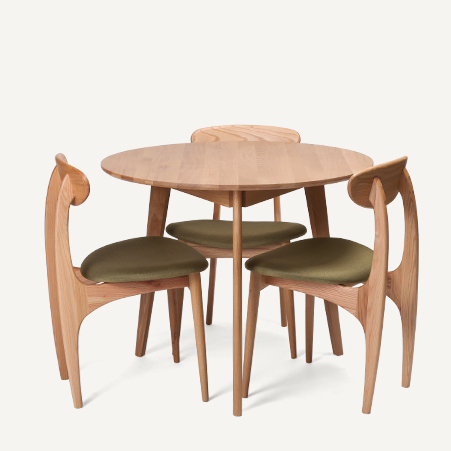 Japanese  Style Wood Furniture Dodge Scandinavian Modern Style Oak Dining  Table Stylish Suit Table Three