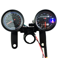 Universal 12V Motorcycle Odometer LED Tachometer Speedometer Gauge 0 13000RPM 0 160km/h Meter Motorcycles Accessories
