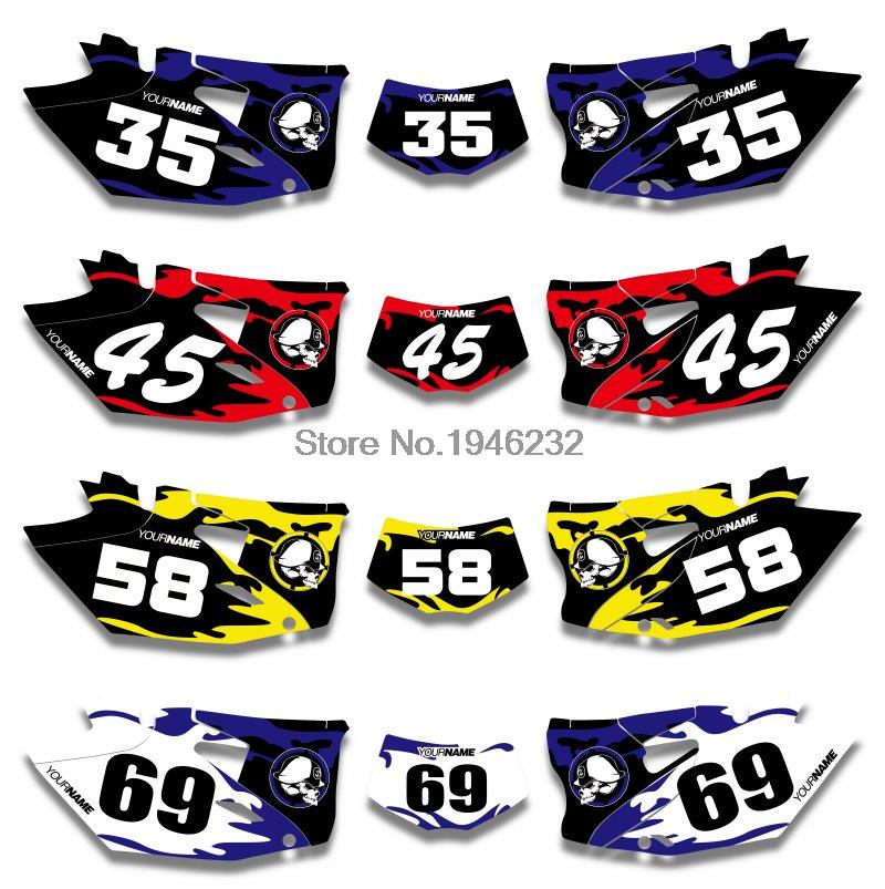 NICECNC Custom Number Plate Background Graphics <font><b>Sticker</b></font> & Decal For <font><b>Yamaha</b></font> <font><b>WR450F</b></font> WRF450 2012 2013 2014 WR 450F WRF 450 image