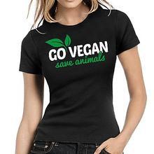 """Go Vegan – Save Animals"" girlie / women's shirt / 24 Colors"