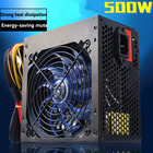 Quite 500W ATX desktop power supply for computer electrical source of the machine powerful gaming r7 240 r7 250 graphics card