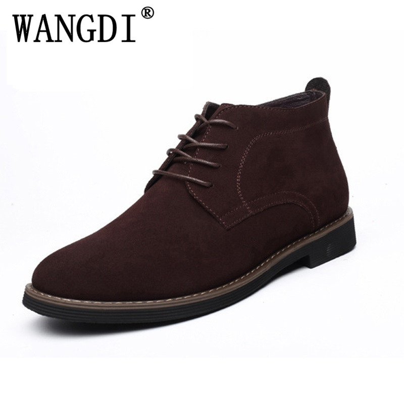 Mens boots winter shoes large size 45 suede ankle desert boots warm fur shoes winter chelsea boots snow boots zapatos hombre suede