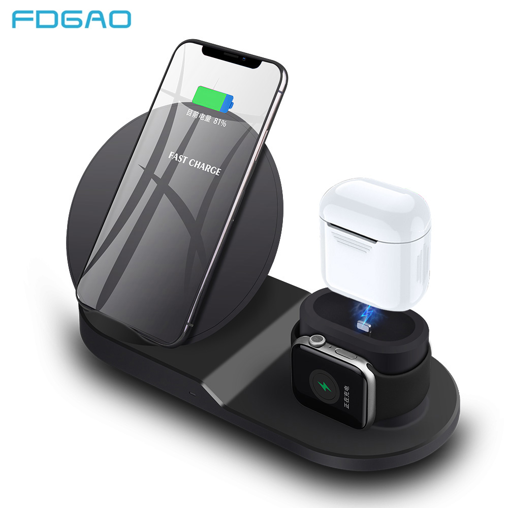 Fdgao Qi Wireless Charger for iPhone 8 X XS Max XR 10W