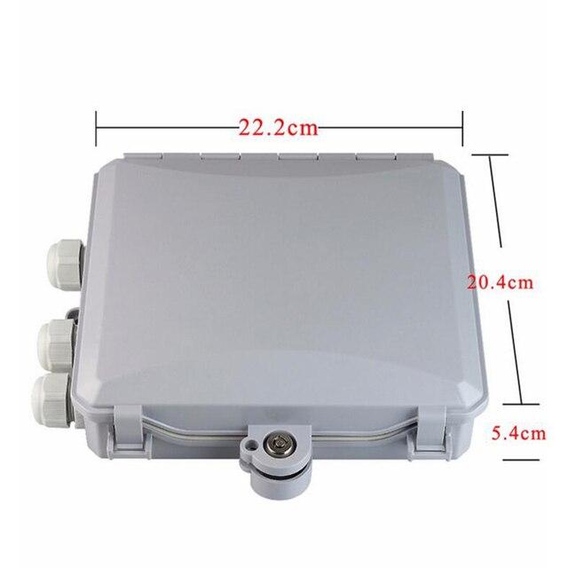Hoge kwaliteit 8 Core outdoor Fiber Optic Terminal Box 8 port Fiber Optic Verdeelkast glasvezelkabel lade