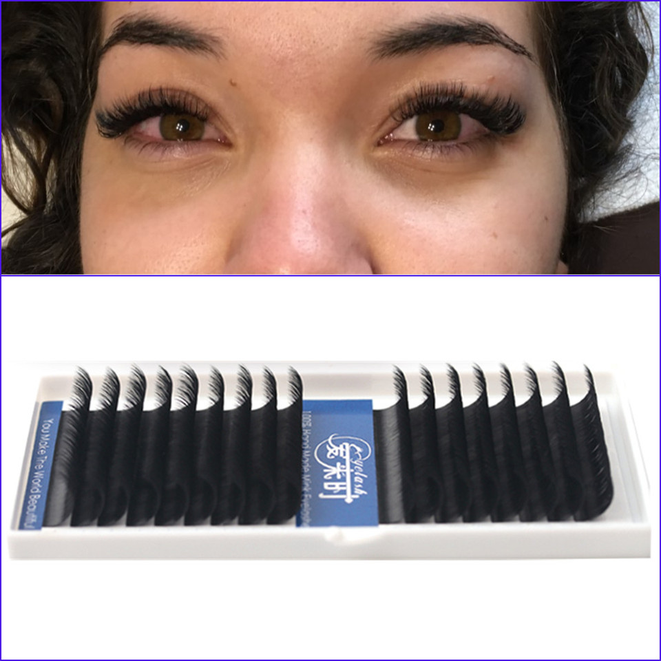 1 Case 16 Lines BCD Individual Eyelash Extensions,Fake Eye Lashes,Natural Silk Mink False Eyelashes 100% Handmade Cilias 0.03mm