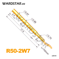 100pcs/lot R50-2W7 Length 17.5mm Spring Test Probes Receptacle Pre-Wired Wholesale