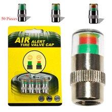 50 Pieces 4PCS Car Tyre Tire Pressure Gauge Monitor Indicator Monitoring Cap Sensor Wheel Auto tire pressure cap warning