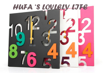 2016 HOT SALES Wholesale Fashion DIY Home Decor Sticker Wall Clock for Living Room Acrylic Material Mirror Face Free Shipping
