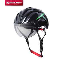 2017 WINMAX  Bicycle Cycling Helmet Ultralight Integrally-molded MTB Road Bike Helmet Goggles Helmet with Magnetic UV Visor