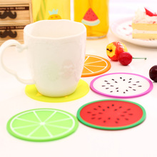 7 Styles Colorful Silicone Fruits Coaster Novelty Cup Cushion Holder Dining Room Decor Drink Placement Mat Kitchen Accessories