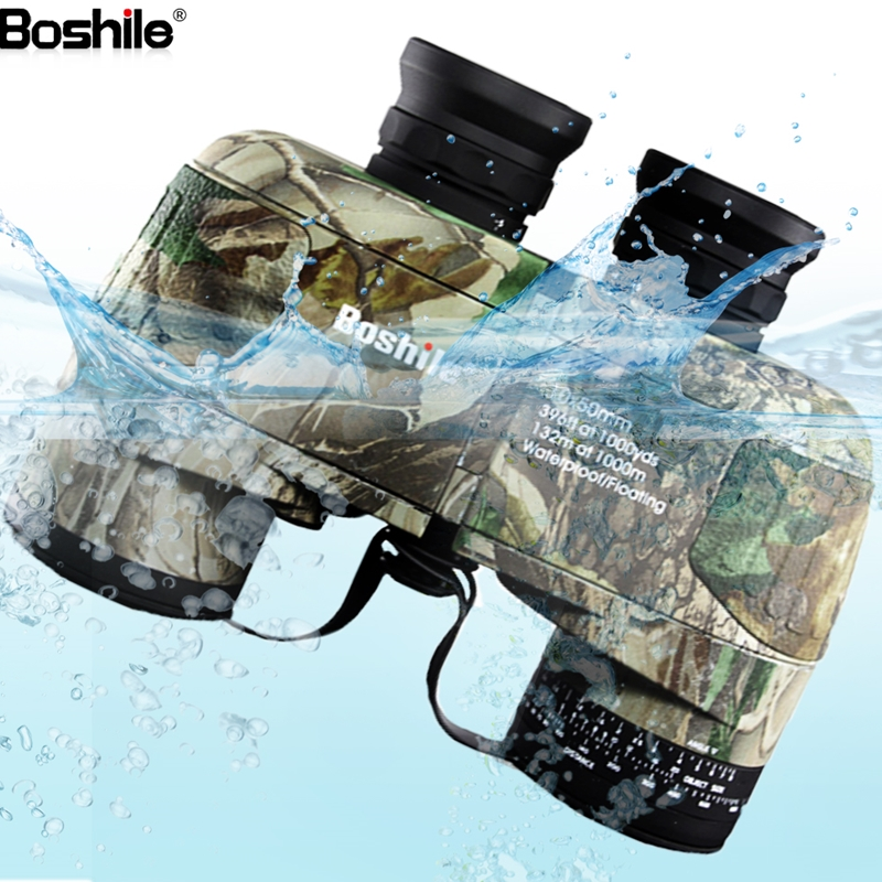 Boshile binoculars 10x50 professional Military Nitrogen waterproof binocular with Navigation Compass telescope Lll night vision