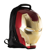 Iron Man Men's Backpack, Fashion Trend package , Men's Casual Canvas Travel Bag,
