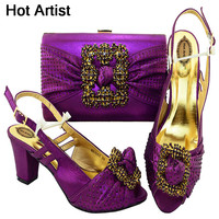 Hot Artist Shoes And Bag Set African Sets Italian Shoes With Matching Bags High Quality Women