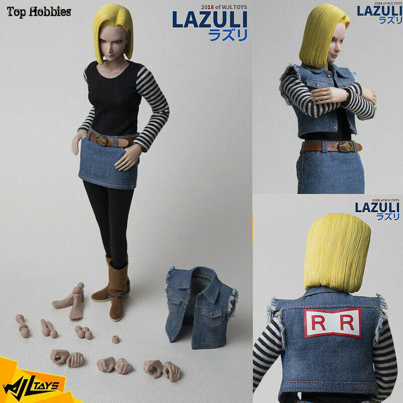 WjlToys TY-007 1/6 Scale 1:6 Dragonball Android 18 LAZULI PVC Cosplay Anime Naruto 12in Female Action Figure Movable Doll