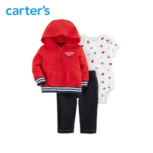 3pcs sweet slogan bodysuit jacket denim pant clothing sets Carter s baby boy soft cotton Spring