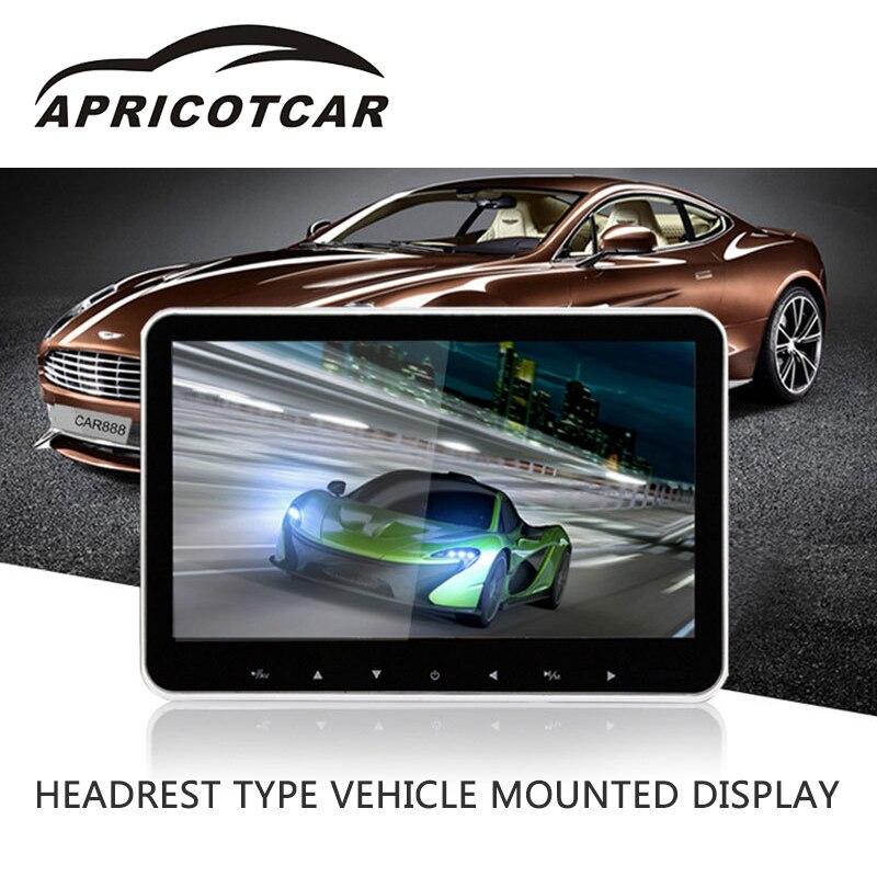 Voiture Écran 10 pouce MP5 Multimédia Vidéo Lecteur HD 1080 p LCD Arrière Loisirs Siège Appui-Tête Type Véhicule Monté Affichage moniteurs
