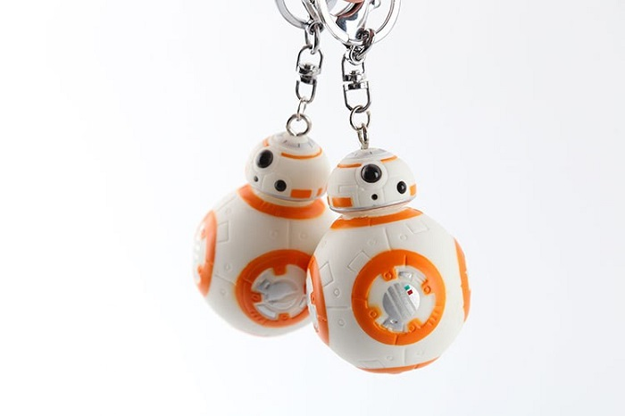 10/Lot 2.2inch Star Wars The Force Awakens Bb8 KeyChain Droid Robot Action Figure Stormtrooper Clone Trooper Strap BB8 Key Chain r2d2 robot bb8 xinh206 single sale building blocks star wars 7 the force awakens toys for children