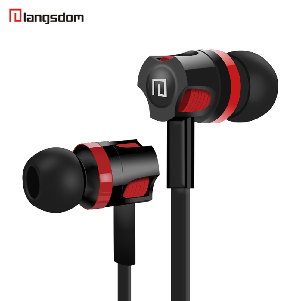 где купить Langsdom JM26 Stereo In-ear Earphone Headset With Mic Handsfree Earpods 3.5mm Earbuds for All Mobile Phone MP3 Player дешево