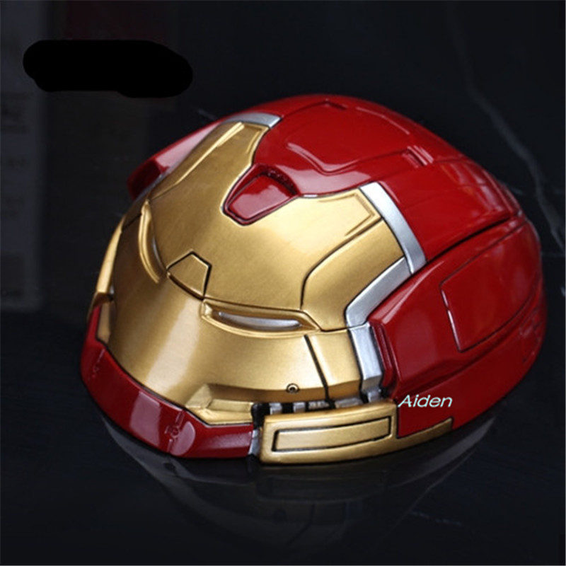 "7"" Avengers Infinity War Hulkbuster Mk44 Round Ashtray Storage Box Helmet Gk Action Figure Collectible Model Toy Box 18cm B473 Delicacies Loved By All"