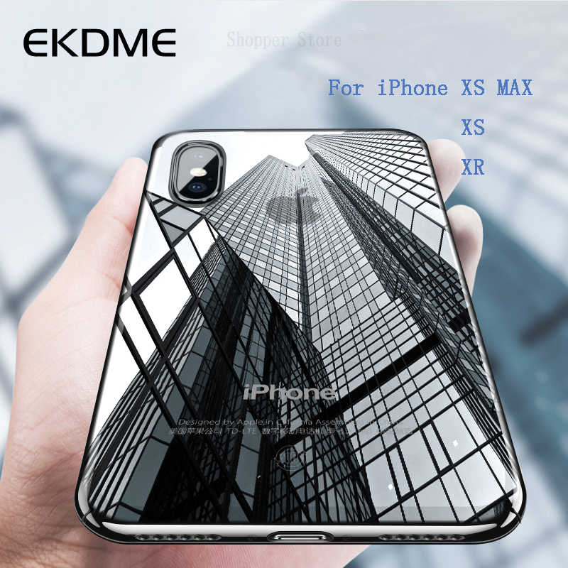 Clear Trasparent Phone Case For iPhone X XS XR XS MAX 6 6S 7 8 plus 5 5S SE 5C Silicon Soft TPU Back Protective Shell Cases Capa