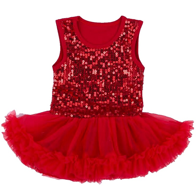 Lentejuelas rojas Lace Petti Del Mameluco Niñas Vestidos de Verano 2016 Vestido Infantil Menina Robe Bebe Fille Bebé Ropa Del Vestido de Boda
