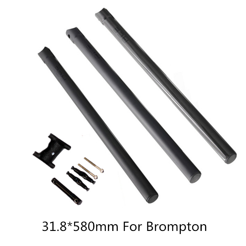 Bicycle 3K Carbon Fiber Seatpost 31.8*580mm Seat Post For Brompton Bike Parts sema titanium alloy brompton seat post diameter 31 8mm cnc seatpost for brompton folding bike 31 8mm 580mm super light