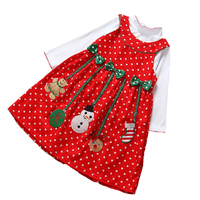 Christmas Girls Dress Long Sleeve Two Piece Dot Dresses Kids Clothes Children S Clothing Santa Claus