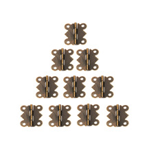 20Pcs 25x20mm Mini Butterfly Door Hinge Antique Bronze Cabinet Jewellery Box Decorative Hinges Furniture Hardware with Screws [haotian vegetarian] chinese ming and qing furniture antique copper accessories copper hinge door hinge htf 109
