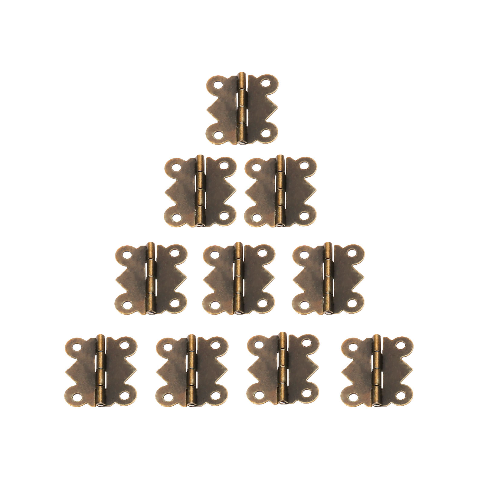 20Pcs 25x20mm Mini Butterfly Door Hinge Antique Bronze Cabinet Jewellery Box Decorative Hinges Furniture Hardware with Screws
