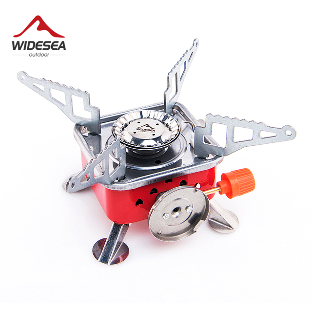 Widesea Gas Burner Camping Stove Tourist Equipment Lighter Outdoor Cooker Kitchen Propane Butane Gas stove Hiking Fishing 1