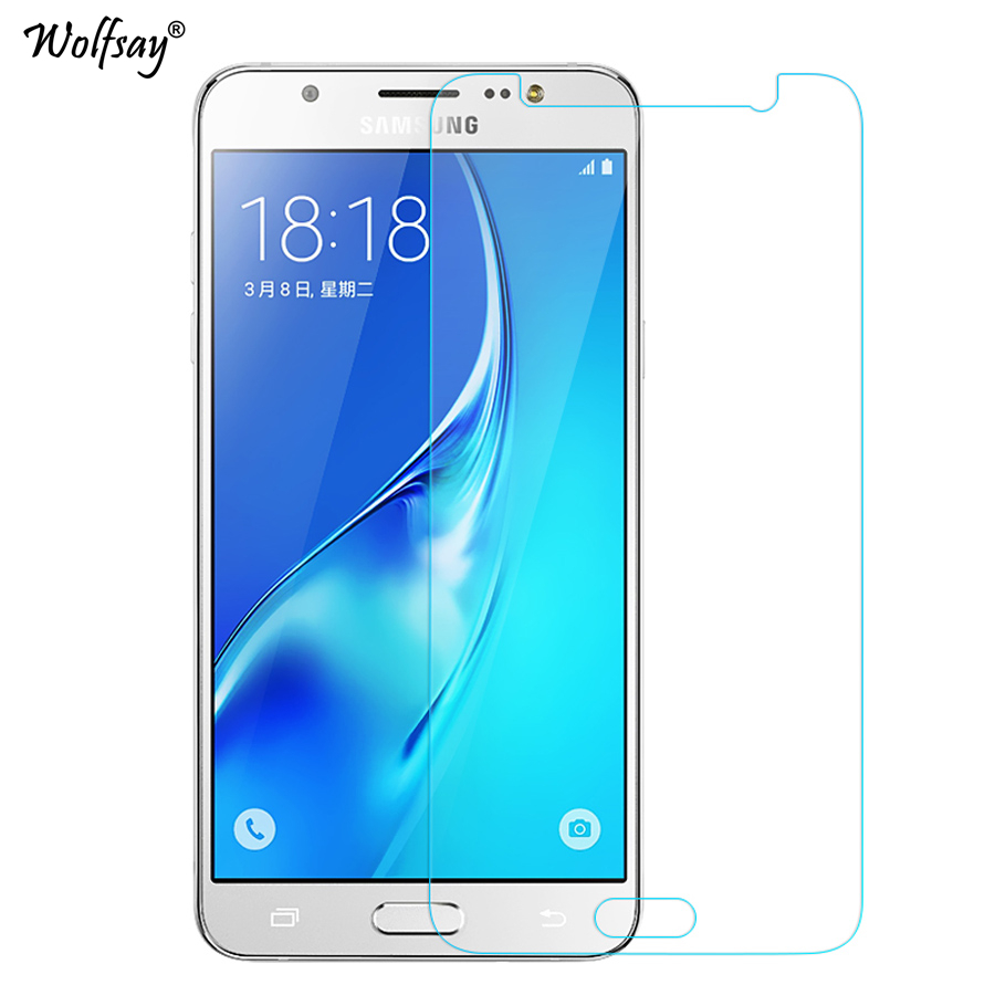 Wolfsay 2PCS Glass For Samsung Galaxy J7 Neo Screen Protector Tempered Glass For Samsung Galaxy J7 Neo Protective Film J701f