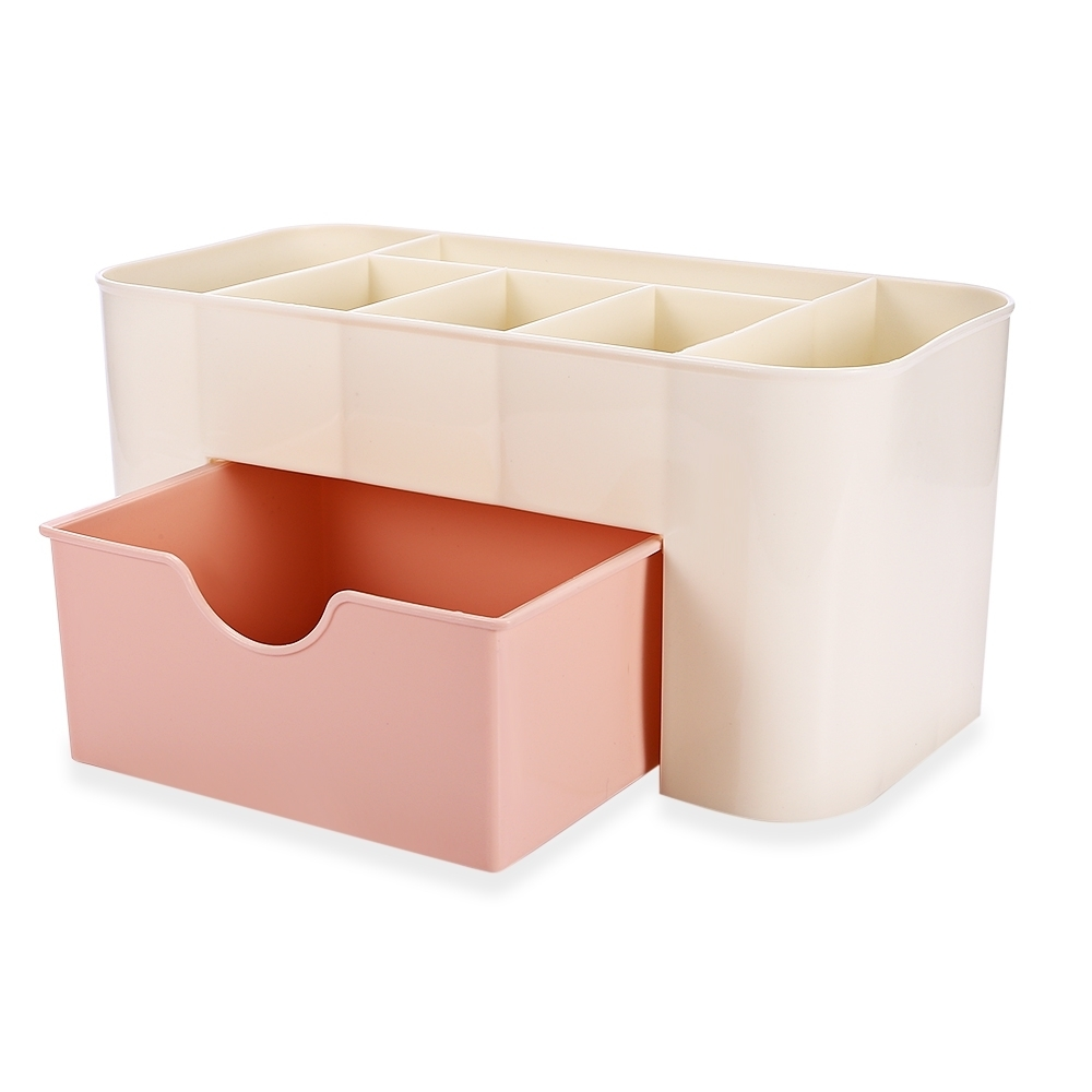 Hot Sale Plastic Storage Box Jewelry Makeup Organizer Candy Color Office Sundries Cosmetic Drawer Container Storage Organizer