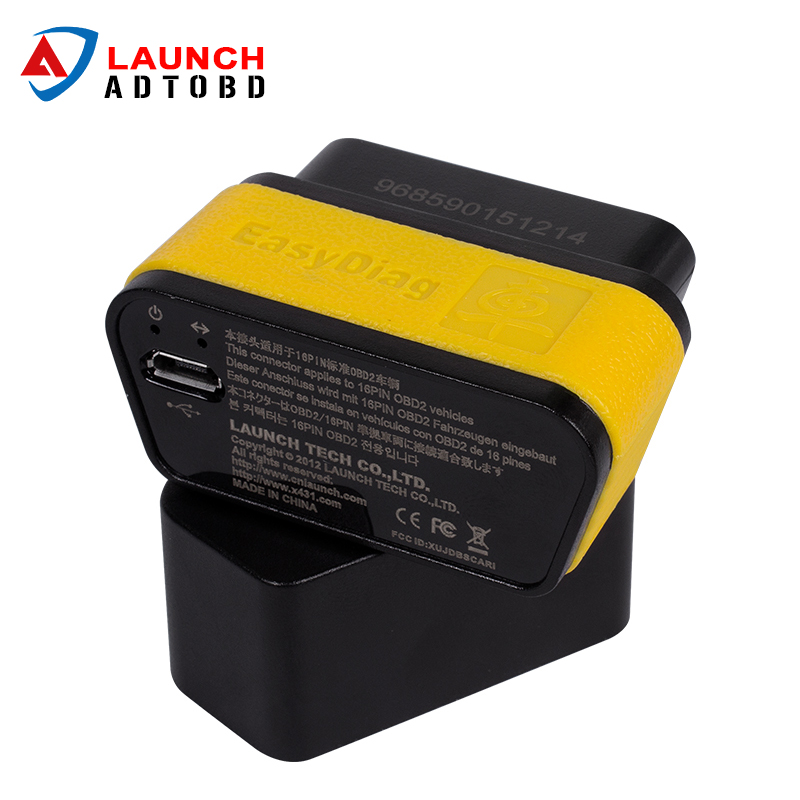 100% Original Launch X431 Easydiag 2.0 for android and IOS 2 in 1 easy diag OBDII Code Scanner dhl free ship launch easydiag ps100 can obdii eobdii scanner for multiple brand vehicles