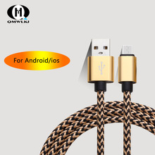 1m Micro USB Cable Fast Charging Sync Data Android Mobile Phone Data Cable IOS Tablet USB Charging For iPhone  Xiaomi Huawei rock c2 micro data charging cable 1m grey
