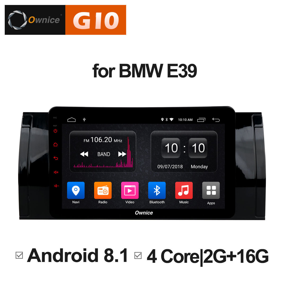 Clearance Ownice C500+ G10 Octa Core android 8.1 Car DVD player 32G ROM  for bmw E39 GPS Radio RDS GPS Navi stereo player 2G ram 4G LTE 1