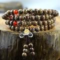 Tibetan 108 Kingkong Bodhi Seeds Meditation Prayer Mala Nepal Rudraksha Bodhi bracelet with Tassel for Man