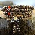 Tibetano 108 Bodhi Kingkong Bodhi Sementes Oração Meditação Mala Rudraksha Nepal pulseira com Pingente para o Homem