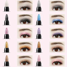 1 PC Kosmetik Glitter Eye Shadow Eyeliner Pen 16 Warna Yang Berbeda Tahan Lama Highlighter Eyeshadow Pensil Eye Liner Kecantikan(China)