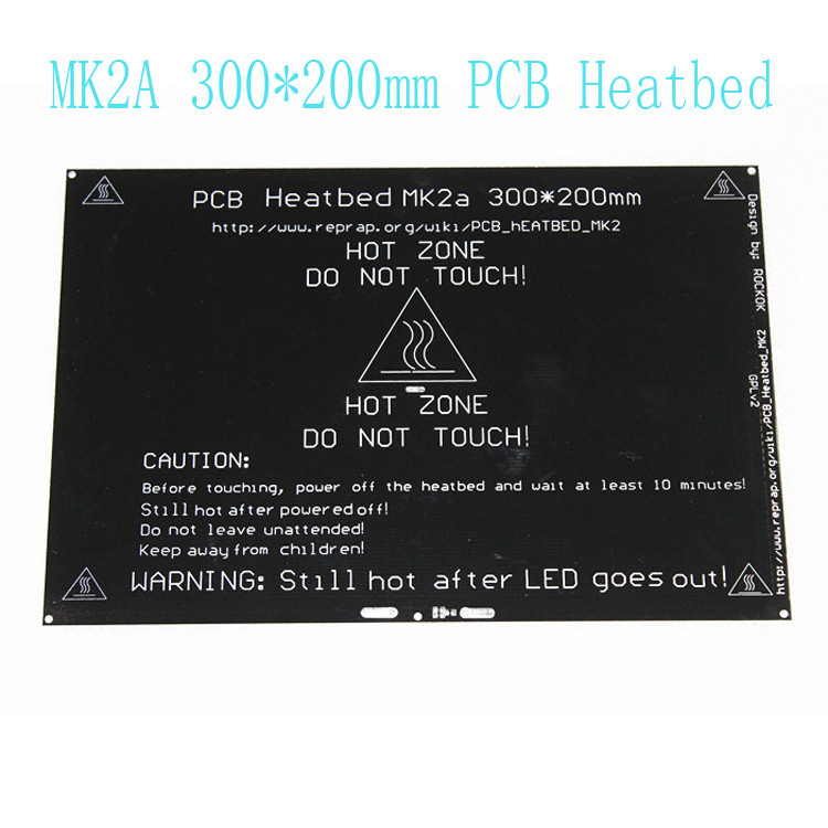 RepRap MK2A 300 200 3 0mm Heated Bed Ramps 1 4 PCB Aluminum Heatbed MK3 Heated