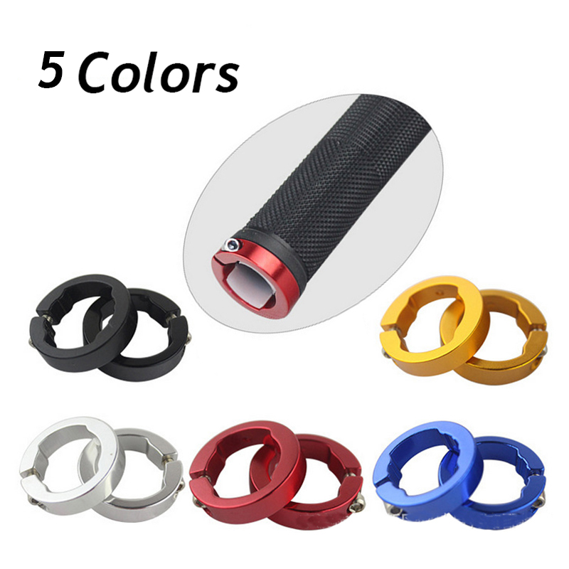 1 Pair 8mm 12mm Aluminum Alloy Bike Bicycle Grips End Rings Mountain Cycling Handlebar Cover MTB Bike Handlebar Grips Lock Rings
